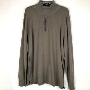 The North Face quarter zip wool blend sweater